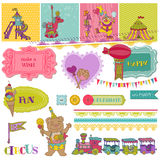 Birthday Party Child Set Royalty Free Stock Photography