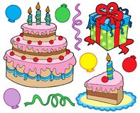 Birthday party collection royalty free illustration
