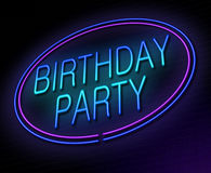 Birthday party concept. Stock Images