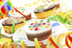 Birthday Party Cupcakes Stock Image