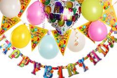 Birthday party decoration stock image