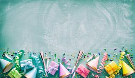 Birthday party decoration royalty free stock images