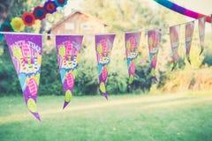 Birthday party decoration stock photography
