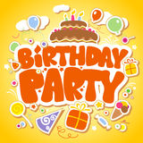 Birthday Party design template. Royalty Free Stock Images