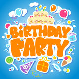 Birthday Party design template. Stock Photography