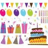 Birthday Party Elements Stock Photo