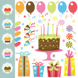Birthday Party Elements Royalty Free Stock Image