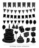 Birthday party elements, vector illustration. Royalty Free Stock Photography