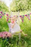 Birthday party in the garden Stock Photos