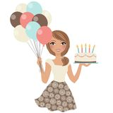 Birthday party girl Royalty Free Stock Photos