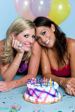 Birthday Party Girls Royalty Free Stock Images