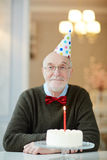 Birthday Party for Grandpa stock image