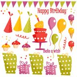 Birthday party graphic elements Stock Image