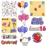 Birthday Party Graphics 2 Royalty Free Stock Photos