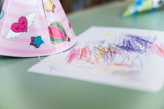 Birthday party hat Royalty Free Stock Photo