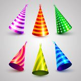 Birthday party hat set collection. Stock Photography