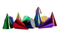 Birthday party hats Stock Images