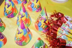 Birthday party hats. Pic of Birthday party hats stock image