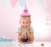 Birthday party at home Royalty Free Stock Photography