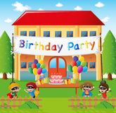Birthday party at home Stock Images