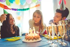 Birthday party at home Stock Photography