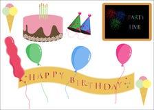 Birthday Party Icons Royalty Free Stock Photos