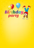 Birthday party. The invitation for birthday party Stock Images