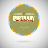 Birthday party invitation card,  card Stock Photos