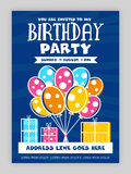 Birthday Party Invitation Card design. Stock Image