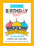 Birthday Party Invitation Card design. Stock Photography