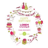 Birthday Party Invitation Card Stock Photography