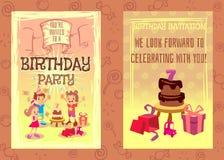 Birthday party invitation card vector template Royalty Free Stock Photo
