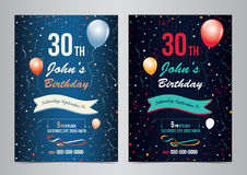 Birthday party invitation layout template. Vector illustration vector illustration