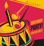 Birthday party invitation template Stock Images