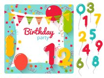 Birthday party invitation Stock Photos