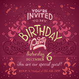 Birthday party invitation Stock Photography