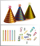 Birthday party items Stock Image