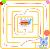 Birthday party maze Royalty Free Stock Photos