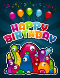 Birthday Party Monsters Royalty Free Stock Images