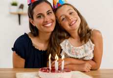 Birthday party with my mom Royalty Free Stock Photo