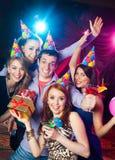 Birthday party at nightclub Stock Photography