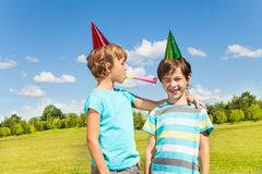 Birthday party noise Royalty Free Stock Photo
