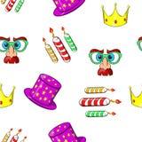 Birthday party pattern, cartoon style Stock Image