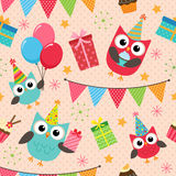Birthday party pattern Royalty Free Stock Images