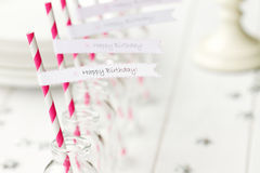 Birthday party refreshments. Refreshments set out for a birthday party royalty free stock photo