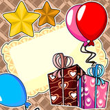 Birthday party scrapbook card Royalty Free Stock Photo
