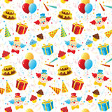 Birthday party seamless pattern
