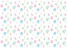 Birthday party seamless pattern background Stock Image