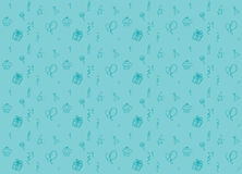 Birthday party seamless pattern background in one