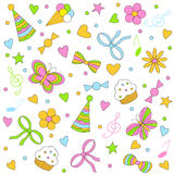 Birthday,party seamless,pattern Stock Images